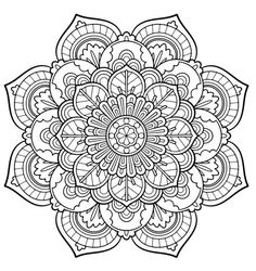 – coloring-pages - Malvorlagen Mandala Free Adult Coloring Pages, Flower Coloring Pages, Mandala Coloring Pages, Coloring Book Pages, Mandala Doodle, Mandala Drawing, Design Tattoo, Mandala Tattoo Design, Wallpaper Rainbow