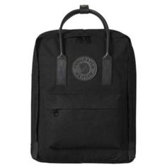 """Fjällräven Kanken No. Described by its makers as, """"the monochrome friend of Kanken No. this jet black backpack by leading Swedish brand Fjällräven will add a touch of class to any contemporary luggage collection. Mochila Kanken, Fjallraven Kanken Black, Fox Bag, Black Edition, Black Backpack, Adidas Backpack, Mini, Black Leather, Shoulder Bag"""