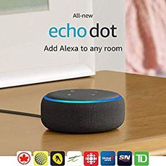 Echo Dot Gen) - New and improved smart speaker with Alexa - Charcoal.Meet the all-new Echo Dot - Our most popular smart speaker, with new fabric design, and improved speaker for richer and louder sound. Amazon Echo, Best Amazon, Amazon Deals, Amazon Dot, Amazon Online, Alexa App, Alexa Echo, Alexa Alexa, Tp Link
