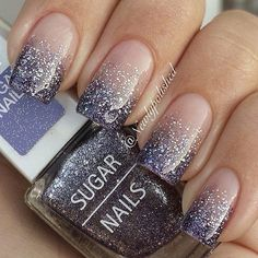 black, brillo, cute, glitter, gorgeous, grey, gris, hand, mano, nails, negro, sparkles, ​uñas