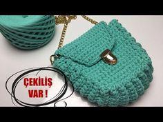 Midye Çanta Yapılışı (ÇEKİLİŞ VAR!) - YouTube Crochet Bag Tutorials, Crochet Videos, Crochet Projects, Crotchet Bags, Knitted Bags, Crochet Clutch Pattern, Crochet Patterns, Crochet Handbags, Crochet Purses