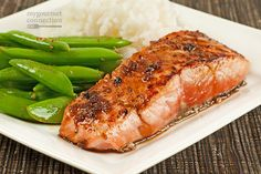 This quick and easy recipe for salmon fillets and a tangy pan sauce made with garlic, lime juice, soy sauce and brown sugar is delicious served with steamed white rice and stir-fried sugar snap peas.