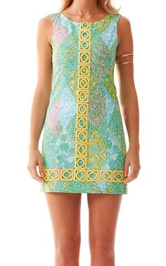 Lilly Pulitzer Mila Lace Detail Shift Dress in Multi Sun Dance Small