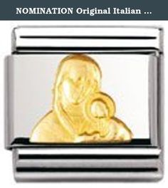 NOMINATION Original Italian Charm with 18K gold (Madonna with Child). fashionother.