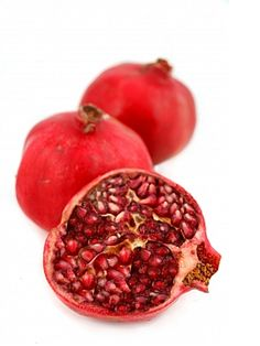 Easiest recipe ever!!  Peel..break up...eat..make a mess!!!!!  Ha!!  Pomegranates are a fruit superfood.  With anti-oxidants, B-complex group, fiber and minerals like calcium and manganese.  And more stuff too.  It is one of my favorite foods.  I throw it in my oatmeal, salads and eat it by the spoonful.  It is a beautiful color..the seeds are shiny beautiful and make dishes look so appealing.
