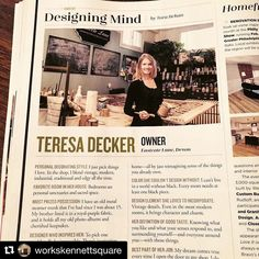 Hey that's me!  Thank you so much @mainlinetoday  How fun to be featured! and big thanks to my Kennett square home @workskennettsquare for sharing the news!  #mainlinetoday #februaryissue #designingmind #howcoolisthat #lookmom #grateful #thankyou #eastcotelane