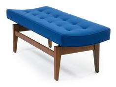 Pair of Four Foot Floating Upholstered Benches By Jens Risom image 2