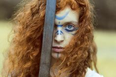 f Barbarian Sword wilderness portrait Badb (Irish) - A shape-shifting, warrior goddess who symbolizes life and death, wisdom and inspiration. She is an aspect of Morrigan. Warrior Princess, Warrior Queen, Viking Warrior, Comanche Indians, Celtic Warriors, Shield Maiden, Celtic Mythology, Braveheart, Halloween Kostüm