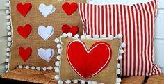 almohadas Romanticas para san valentin