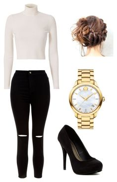 """Casual"" by mitchieanne21 on Polyvore featuring Michael Antonio, Movado, New Look and A.L.C."