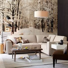 Snowy wallpaper mural Winter Decor Preview: Sparkling Finds for the Upcoming Season