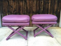 """Pair Of Mid-Century Modern Fully Upholstered X Benches/Ottomans, In The Manner Of """"Billy Baldwin"""" by FLORIDAMODERN on Etsy"""