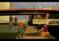 "David Piddock ""Post-Modern, Pre-Modern, Magic Realist, New Realist, David Piddock's wor. Nostalgia Art, David, Postmodernism, Contemporary Art, Urban, Painting, Inspiration, Image, Buildings"
