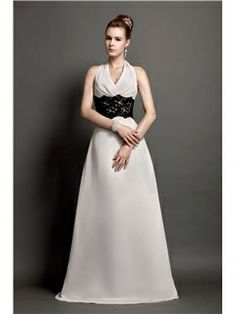 Charming Lace A-Line Halter Floor-Length Alicja's Bridesmaid Dress