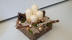 Christmas Decorations, Table Decorations, Christmas Ornaments, Candle Sconces, Wall Lights, Xmas, Candles, Home Decor, Porta Velas