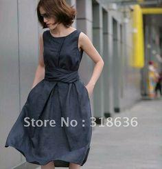 2013 Summer New Arrival Women's Fashion Linen Dress Ramie Sleeveless Sundress (4 Colors) on AliExpress.com. $34.89