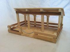 Handgemachte Holzspielzeug Stall