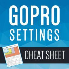 30 Days of GoPro – GoPro Settings Cheat Sheet