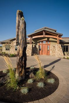 Custom Home Design in The Highlands at Brokentop - A Getaway in Bend Oregon - contemporary - landscape - portland - Homeland Design, llc Custom Home Designs, Custom Homes, High Desert Landscaping, Bend, Modern Ranch, Contemporary Landscape, Highlands, Homeland, House Design