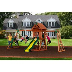 Backyard Discovery Scottsdale Cedar Wooden Swing Set  Just got this for the kids for Christmas <3
