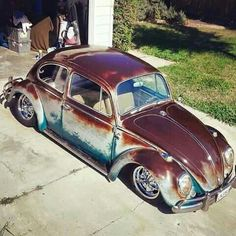Classic VW Bug - patina finish