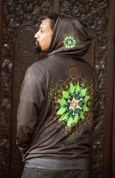 MYCELIUM FERN MANDALA Men's Hoodie / by CrystalotusCreations