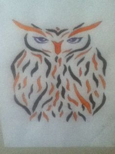 A traced owl I painted