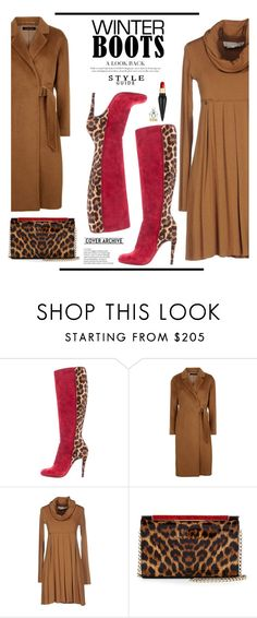"""""""Winter Boots"""" by conch-lady ❤ liked on Polyvore featuring Christian Louboutin, Jaeger, Manila Grace and winterboots"""