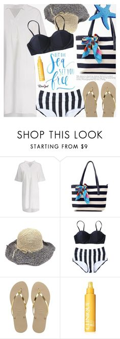 """""""Vacation Style"""" by pokadoll ❤ liked on Polyvore featuring Havaianas and Clinique"""