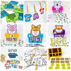 Counting to 100 with fun hands-on math centers for Kindergarten! Teach skip counting by tens, number order, number recognition and more!
