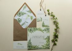 Miodunka zaproszenia Las | Miodunka Zaproszenia Ślubne | Papeteria Ślubna Wedding Stationery, Wedding Venues, Place Cards, Gift Wrapping, Place Card Holders, Gifts, Paper Mill, Wedding Reception Venues, Gift Wrapping Paper