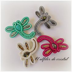 El alfiler de cristal: soutache