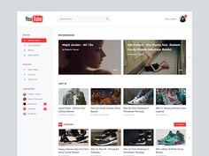 Dribbble - YouTube Redesign by Marcus Hofer