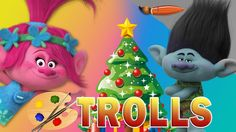 Trolls Movie Christmas - Kids Coloring Book | Coloring Pages for Childre...