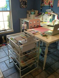 Project Life Cart of supplies.  LOVE it!