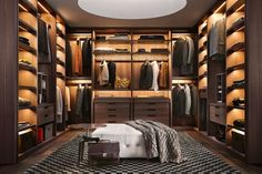 Most stylish Dressing Rooms and most beautiful Luxury Master Bedrooms from all around the world in one place! Stylish walk in closet design ideas; Closet Walk-in, Men Closet, Closet Bedroom, Closet Ideas, Closet Mirror, Master Closet, Diy Bedroom, Walk In Closet Design, Closet Designs