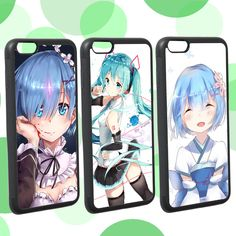 """Find More Phone Bags & Cases Information about For Iphone 6 Plus 6s Plus cover Re:Zero / Hatsune Miku /Rem moe moe Girl anime Series case 5.5"""",High Quality anime leather,China anime spongebob Suppliers, Cheap anime body pillow covers from ShenZhen MRB store on Aliexpress.com"""