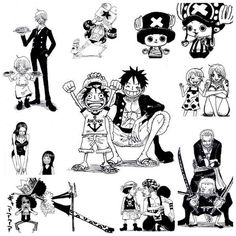 one piece luffy sanji nico broock ussop zoro nami chopper franky children and adults