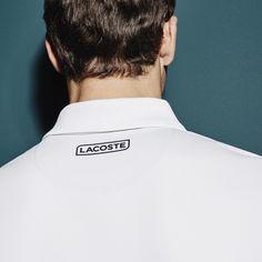 ca984e26 LACOSTE Men'S Sport Tennis Colorblock Tech Piqué Polo - White/Navy  Blue-Soda Yell