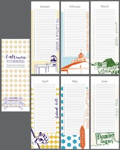 Baltimore Neighborhoods Perpetual Calendar