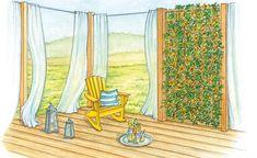 Noch geht das Grundstück fast übergangslos in die angrenzende Wiese über. Mit einem luftigen Gartenzimmer oder einem kleinen Senkgarten lässt sich der Platz an der Grundstücksgrenze als Sitzplatz nutzen. (Pflanzplan als PDF zum Herunterladen und Ausdrucken)