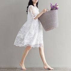 Women Summer Lace Embroider Pregnant Elegant Dress Autumn White Maternity Party Dresses Clothes For Photo Shoot Plus Size L1508