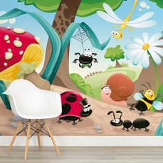 woodland-creatures-square-wall-murals