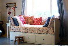 hemnes daybed...perhaps for a reading nook somewhere...with a trundle underneath for sleepovers.