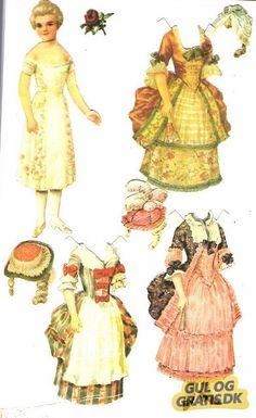 Påklædningsdukker repro fra 70'erne Billede 4