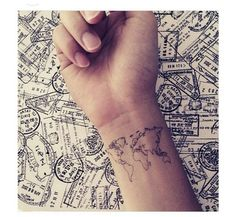 world map on wrist♡