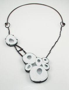 Aran Galligan - Sterling Silver, Copper, Enamel, Freshwater Pearls 2010