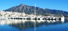 Puerto Banús, Marbella's luxury port and the La Concha mountain behind.