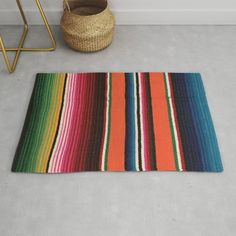 Buy BEAUTIFUL MEXICAN SERAPE Rug by tsalaz1. Worldwide shipping available at Society6.com. Just one of millions of high quality products available.