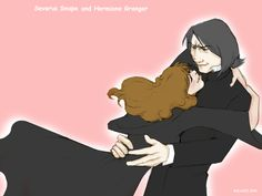 Well here is my Severus and Hermione Wallpaper. Don't they just look so cute together?